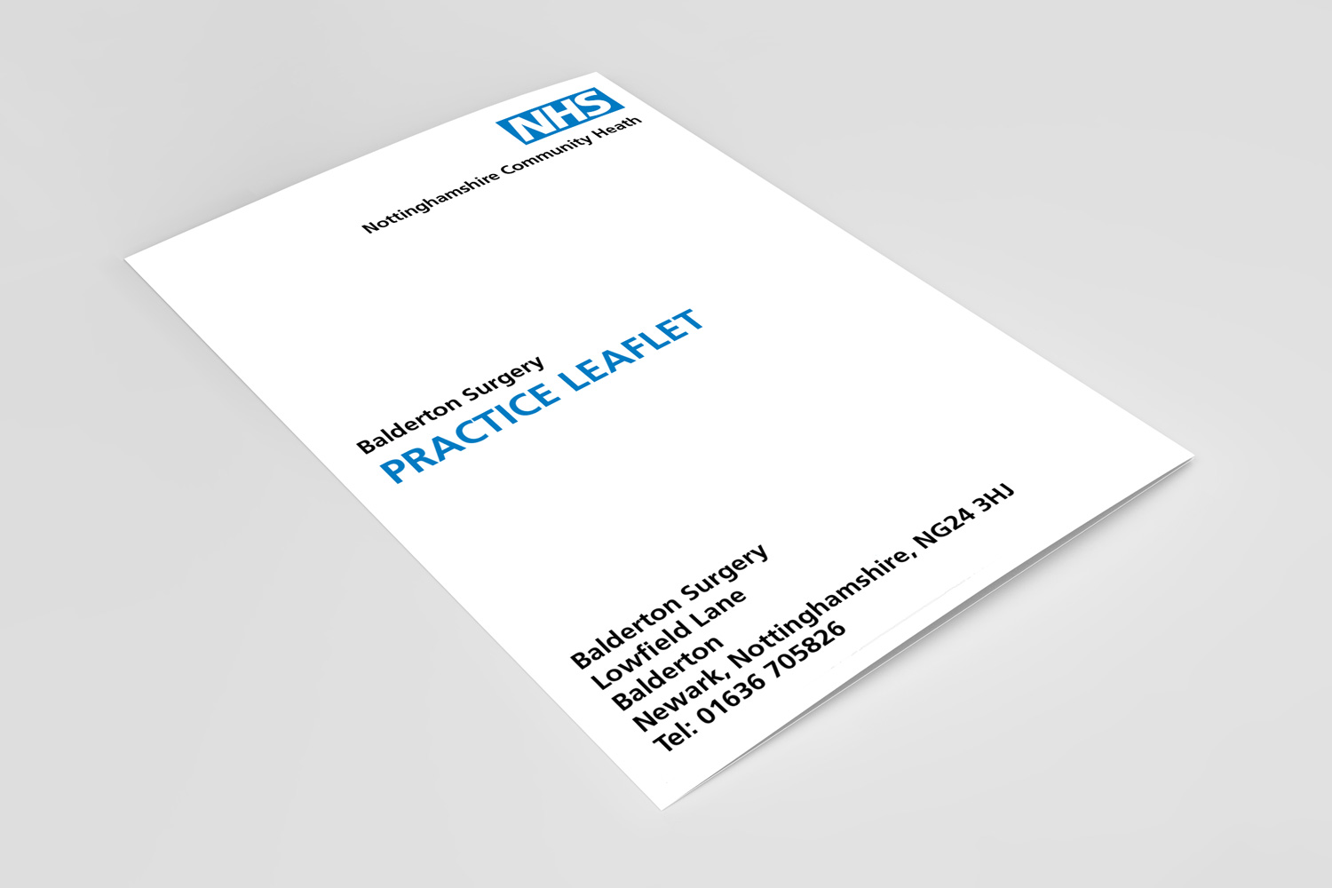 nhs leaflet design