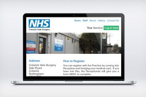NHS Colwick Website Design